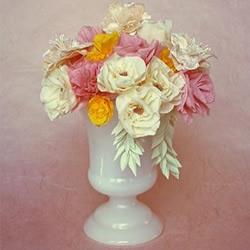 折纸皱纹纸玫瑰花的折法图解 简单又漂亮!