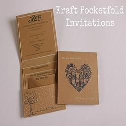 牛皮纸邀请函的折法 也可以拿来当信封用
