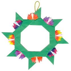 三角插飞镖制作图解 漂亮花环用三角插做