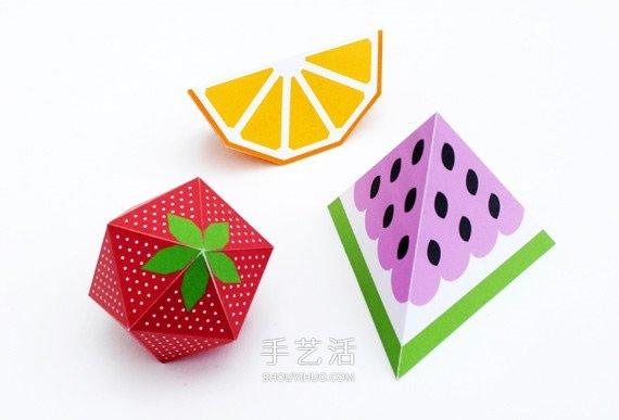漂亮的纸模型水果图片 馋虫都被它勾出来了! -  www.shouyihuo.com