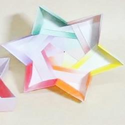 六角星纸盒的折法图解 折纸六角带盖纸盒