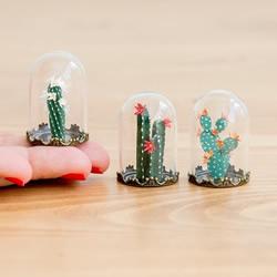绝对养得活的植物!迷你世界的纸雕玻璃盆栽