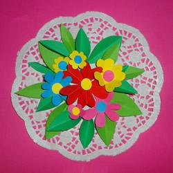 教师节礼物花盘制作 卡纸手工制作漂亮花盘