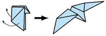 幼儿折纸大雁的教程 简单手工大雁的折法图解 -  www.shouyihuo.com