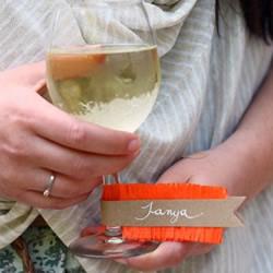自制酒杯标签的方法 简单装饰让气氛更有