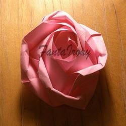 玫瑰花的折法简单易学 简单好看玫瑰花折纸