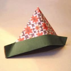 简单又漂亮三角帽折纸 可爱三角帽的折法图解