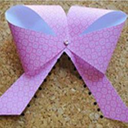 纸蝴蝶结怎么做图解 简单手工蝴蝶结制作教程