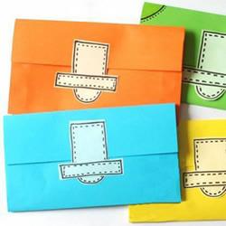 纸钱包的折法最简单 儿童折纸钱包图解教程