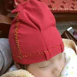 不织布婴儿帽的做法 手工布艺兔子宝宝帽制作