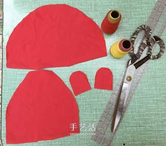 不织布婴儿帽的做法 手工布艺兔子宝宝帽制作 -  www.shouyihuo.com