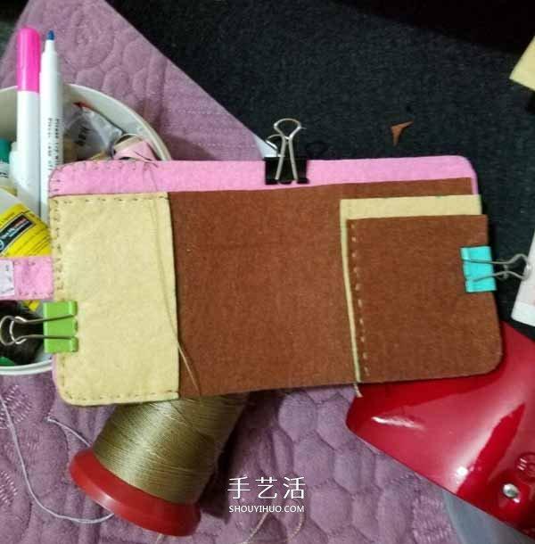 不织布制作卡通钱包 布艺DIY可爱风女生钱包 -  www.shouyihuo.com