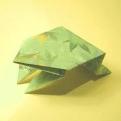 小青蛙的折叠方法图解 会跳小青蛙怎么折