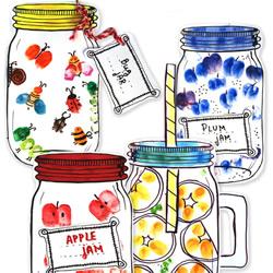 """亲子手指画的画法 做出有趣""""罐子里的秘密"""""""