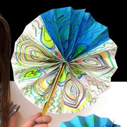 圆扇子怎么做的教程 幼儿DIY制作圆扇子图解