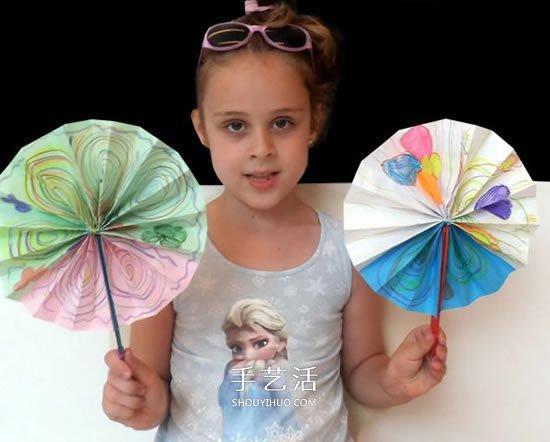 圓扇子怎麼做的教程 幼兒DIY製作圓扇子圖解