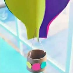 幼儿园热气球手工制作 卡纸做热气球的教