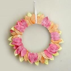废纸做向日葵挂饰图解 幼儿手工制作向日葵