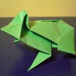 立体树蛙的折法步骤 逼真树蛙的折纸方法
