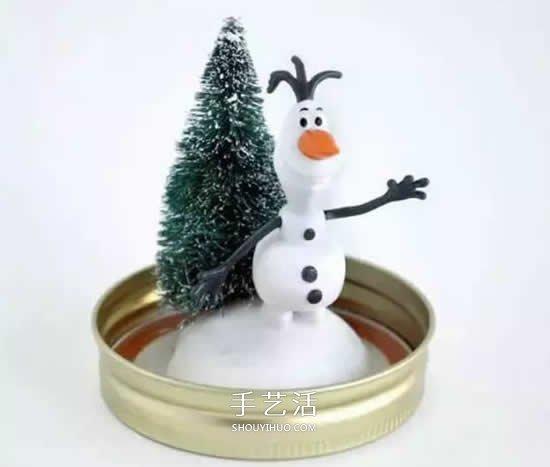 自己动手做圣诞节礼物 玻璃罐制作漂亮装饰品 -  www.shouyihuo.com