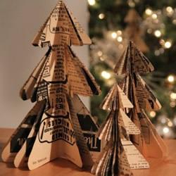 10个漂亮的手工圣诞树图片 都用纸制作而