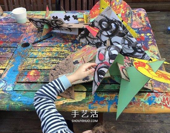 硬纸板的手工小制作 做一个神秘的小飞兽~ -  www.shouyihuo.com