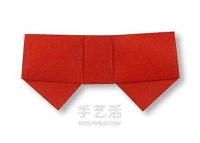 最简单蝴蝶结的折法 幼儿手工折纸蝴蝶结教程 -  www.shouyihuo.com