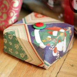 可爱又漂亮方形礼品盒的折纸方法图解