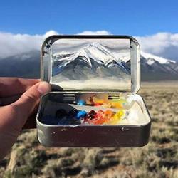 薄荷糖铁盒里的油画世界 把最美风景打包带走