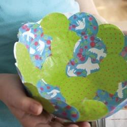 用纸制作简易小花碗的方法 帮你收纳零碎小物