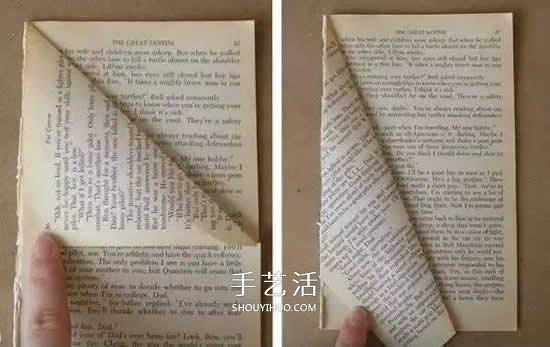 廢舊書做聖誕樹的方法 簡單摺疊一下就完成啦