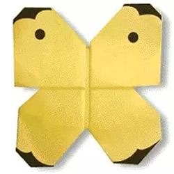 简单蝴蝶的折纸方法 幼儿学折蝴蝶的教程