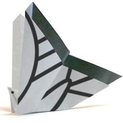 飞舞蝴蝶的折纸教程 简单手工蝴蝶的折法图解