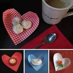 简单爱心盛物盒的折法 一张纸折心形盒子