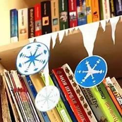 冬天节日手工制作 卡纸剪纸冰柱雪花装饰