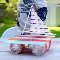 矿泉水瓶做帆船教程 自制塑料瓶小船制作方法