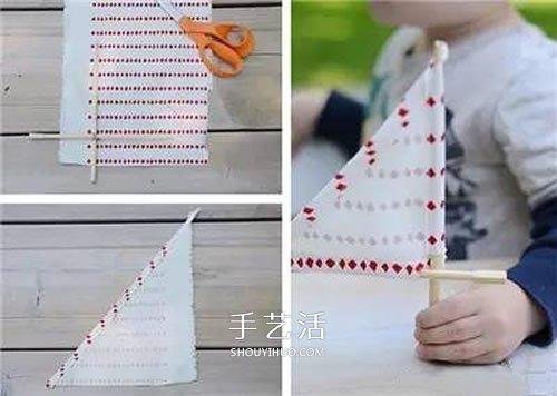 矿泉水瓶做帆船教程 自制塑料瓶小船制作方法 -  www.shouyihuo.com