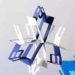 雪花风铃手工制作方法 卡纸做雪花风铃图解