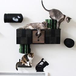 新奇的手工猫家具作品 可爱精致又富创意!