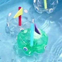 废旧塑料瓶的瓶底手工制作小船的方法图解