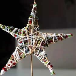 圣诞星星手工制作方法 幼儿做圣诞星装饰教程