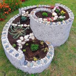 DIY螺旋花坛的方法 立体螺旋花坛的做法图片