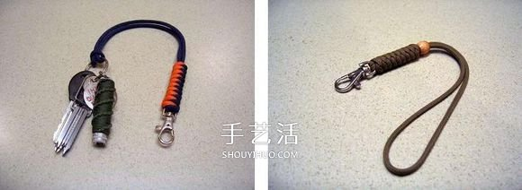 手工刀坠绳编法图解 伞绳刀坠的编法教程 -  www.shouyihuo.com