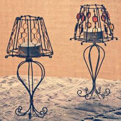 铝线手工烛台的制作方法 优雅的欧式灯具造型