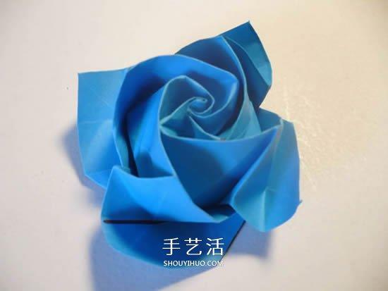 心的折叠方法图解_手工玫瑰花怎么叠图解 玫瑰花折叠方法教程_手艺活网