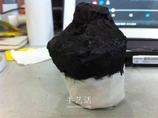 卫生纸筒的废物利用 手工DIY制作卫生纸婚纱 -  www.shouyihuo.com