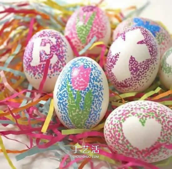 简单又漂亮的涂鸦彩蛋图片 当礼物也拿得出手 -  www.shouyihuo.com