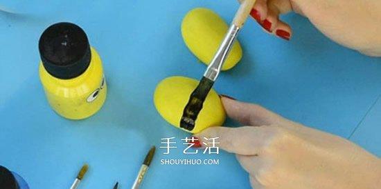 兒童鵝卵石畫蜜蜂教程 簡單鵝卵石蜜蜂的畫法