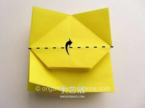 新旋转玫瑰花的折法 折纸旋转玫瑰的步骤图 -  www.shouyihuo.com