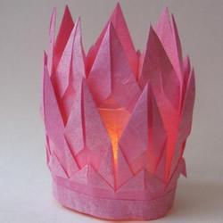 棉纸灯笼的简单做法 儿童春节折叠灯笼教程